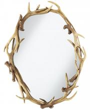 Pacific Coast Lighting 82-9108-48 - MIRROR-ANTLERS OVAL