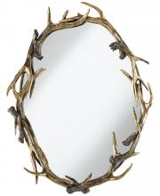 Pacific Coast Lighting 82-9108-76 - MIRROR-ANTLERS OVAL