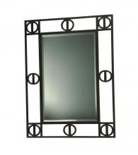 "Lite Source Inc. LM-5088 - MIRROR, DARK RUSTED METAL FRAME, 28""W x 36""L"