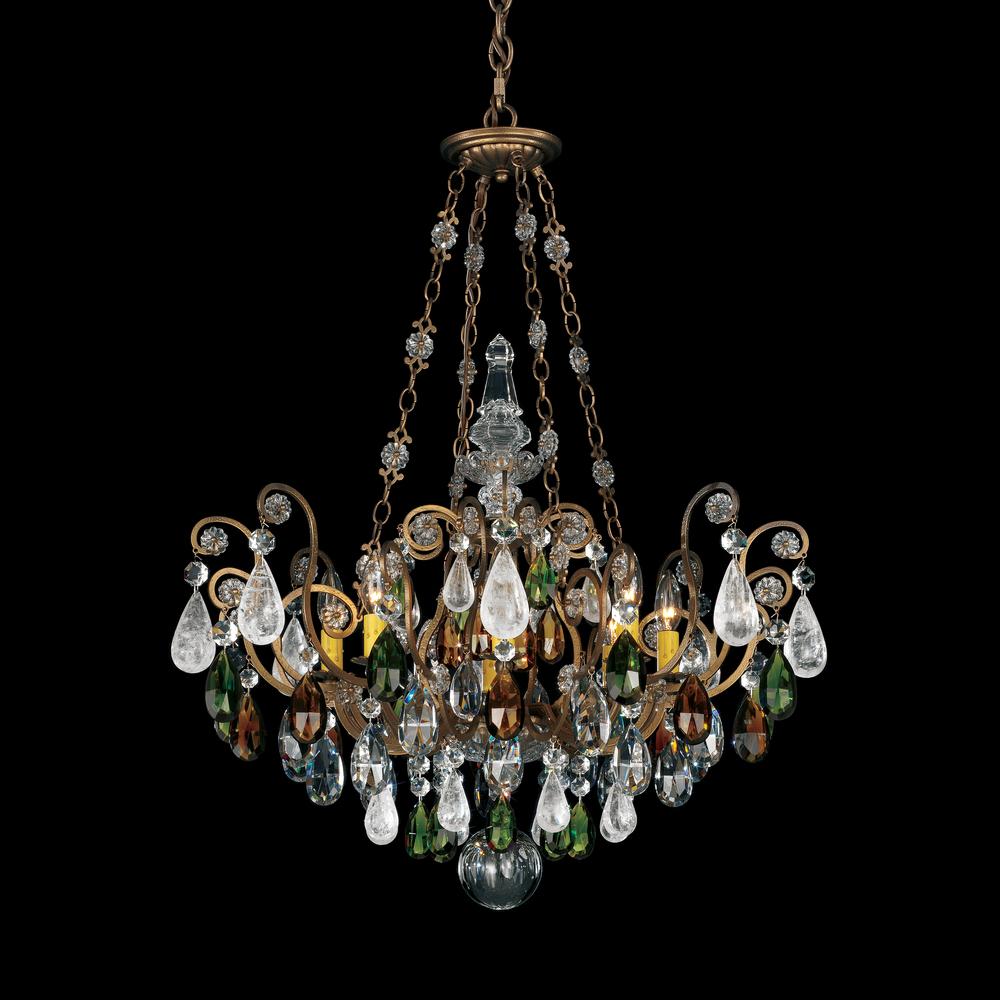Renaissance Rock Crystal 8 Light 110v Chandelier In Antique