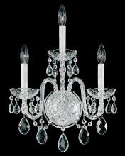 Schonbek 1300-40H - Arlington 3 Light 110V Wall Sconce in Silver with Clear Heritage Crystal