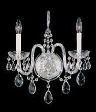 Schonbek 1301-40H - Arlington 2 Light 110V Wall Sconce in Silver with Clear Heritage Crystal