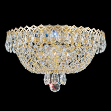 Schonbek 2616-211 - Camelot 3 Light 110V Close to Ceiling in Polished Gold with Clear Gemcut Crystal