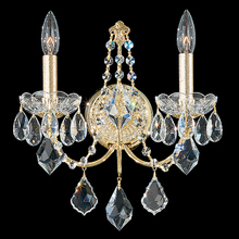 Schonbek 1702U-26 - Century 2 Light 110V Wall Sconce in French Gold with Clear Heritage Crystal
