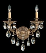 Schonbek 5642-83O - Milano 2 Light 110V Wall Sconce in Florentine Bronze with Clear Optic Crystal