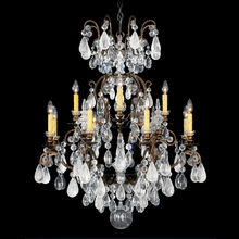 Schonbek 3572-48AD - Renaissance Rock Crystal 13 Light 110V Chandelier in Antique Silver with Amethyst And Black Diamond