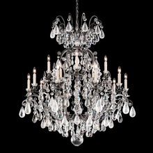 Schonbek 3573-48OS - Renaissance Rock Crystal 16 Light 110V Chandelier in Antique Silver with Olivine And Smoke Topaz Cle