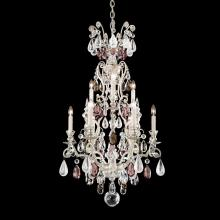 Schonbek 3580-48CL - Renaissance Rock Crystal 10 Light 110V Chandelier in Antique Silver with Clear Rock Crystal