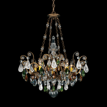 Schonbek 3587-26OS - Renaissance Rock Crystal 8 Light 110V Chandelier in French Gold with Olivine And Smoke Topaz Clear R
