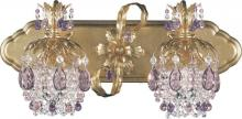 Schonbek 1255-23CL - Rondelle 2 Light 110V Wall Sconce in Etruscan Gold with Clear Vintage Crystal