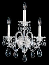Schonbek 2992-40H - Sterling 3 Light 110V Wall Sconce in Silver with Clear Heritage Crystal