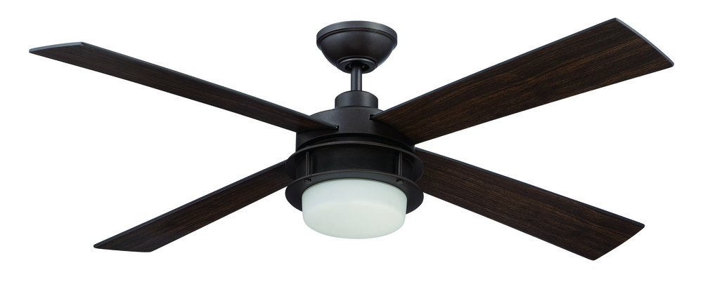 "Urban Breeze 48"" Ceiling Fan with Blades and Light in Espresso"