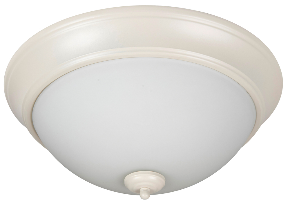 "Pro Builder 2 Light 13"" Flushmount in Antique White"
