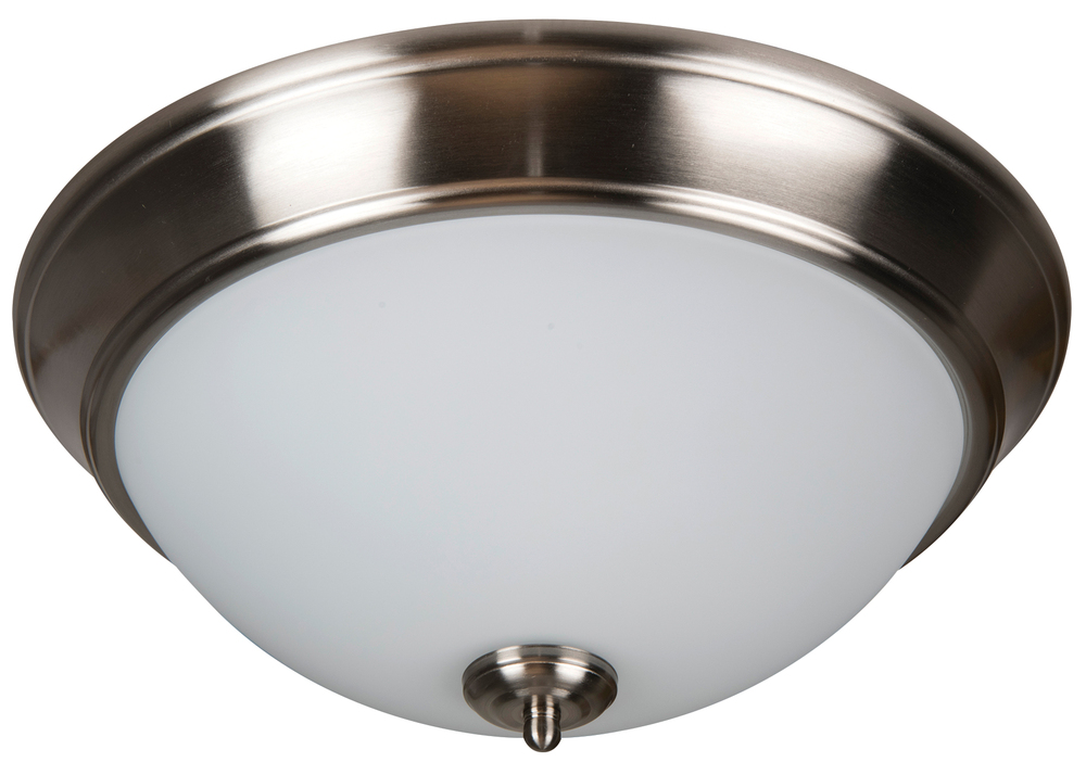 "Pro Builder 2 Light 13"" Flushmount in Brushed Polished Nickel"