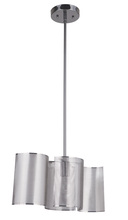 Craftmade 42091-BCH - Sircle 1 Light Mini Pendant in Black Chrome