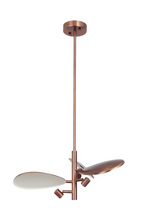 Craftmade 43323-BCP-LED - Hildebrandt 3 Light LED Pendant in Brushed Copper