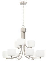 Craftmade 43529-BNK - Clarendon 9 Light Chandelier in Brushed Polished Nickel