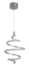 Craftmade P817MSCH-LED - 1 Light LED Mini Pendant in Matte Silver and Chrome