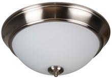 "Craftmade XP13BNK-2W - Pro Builder 2 Light 13"" Flushmount in Brushed Polished Nickel"
