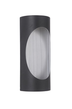 Craftmade Z3102-29-LED - 2 Light Matte Black/Brushed Aluminum LED Pocket Sconce