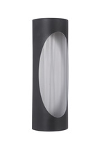 Craftmade Z3112-29-LED - 2 Light Matte Black/Brushed Aluminum LED Pocket Sconce