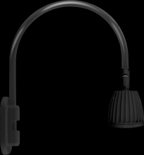 RAB Lighting GN4LED26NRB - GOOSENECK STYLE4 26W NEUTRAL LED NO SHADE RECT REFL BLACK