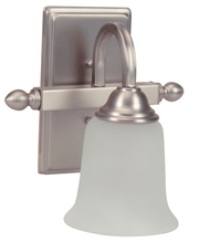 Jeremiah 15209BN1-WG - Madison 1 Light Wall Sconce in Brushed Satin Nickel