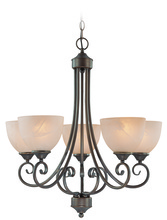 Jeremiah 25325-OB - Raleigh 5 Light Chandelier in Old Bronze