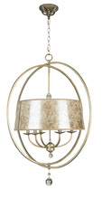 Jeremiah 35536-AO - Windsor 6 Light Chandelier in Athenian Obol