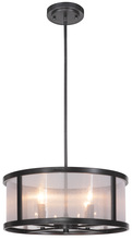 Jeremiah 36794-MBK - Danbury 4 Light Pendant in Matte Black