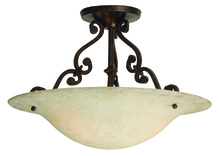 Jeremiah X1813-AG - Toscana 2 Light Semi Flush in Aged Bronze