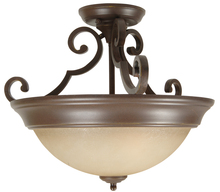 Jeremiah X724-AG - 2 Light Semi Flush in Aged Bronze Textured