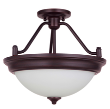 Jeremiah XPS15ABZ-2W - Pro Builder 2 Light Convertible Semi Flush in Aged Bronze Brushed