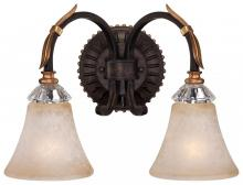 Minka Metropolitan n2692-258b - Two Light French Bronze With Gold Leaf Highlights Champagne Scavo Glass Vanity