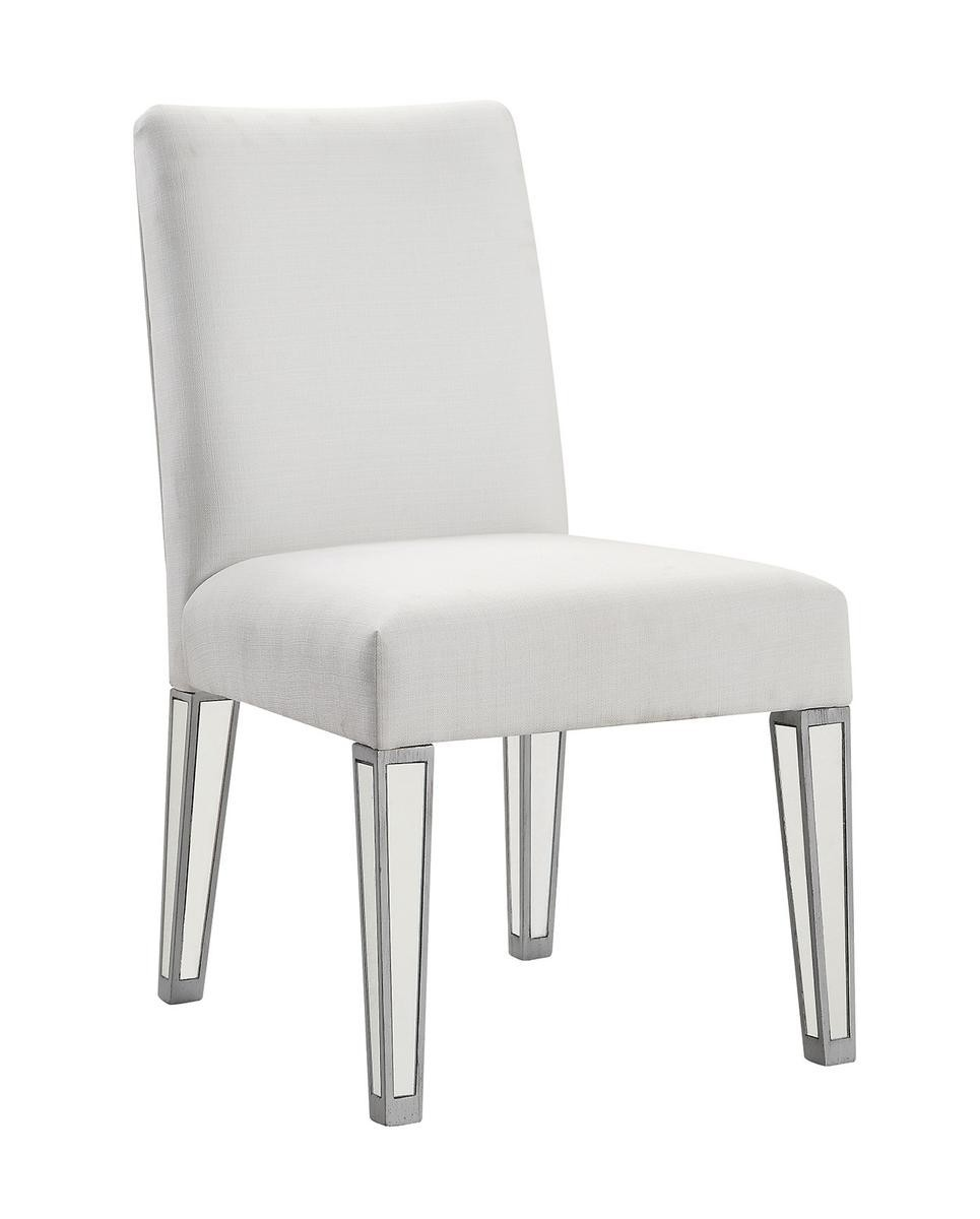 Chair 20 in. x 26 in. x 38 in. in Silver paint