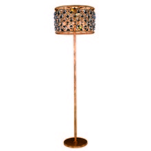 Elegant 1206FL20GI/RC - 1206 Madison Collection Floor Lamp D:20in H:72in Lt:4 Golden Iron Finish (Royal Cut Crystals)