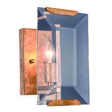 Elegant 1212W6GI - 1212 Monaco Collection Wall Sconce D:6in H:10in E:7in Lt:1 Golden Iron Finish