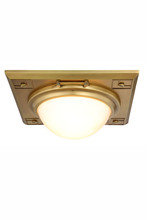 Elegant 1446F12BB - 1446 Cilla Collection Flush mount D:12.5in H:4.5in Lt:2 Burnished Brass Finish