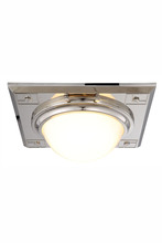 Elegant 1446F12PN - 1446 Cilla Collection Flush mount D:12.5in H:4.5in Lt:2 Polished Nickel Finish