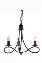 Elegant 1452D18DB - 1452 Lyndon Collection Pendant D:18in H:16in Lt:3 Dark Bronze Finish