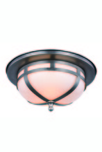 Elegant 1478F11VN - 1478 Bella Collection Flush Mount D:11in H:5in Lt:2 Vintage Nickel Finish