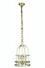 Elegant 1498D12BB - 1498 Baltic Collection Pendant D:12in H:20in Lt:4 Burnished Brass Finish