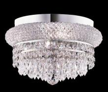 Elegant 1802F12C/RC - 1802 Primo Collection Flush Mount D12in H6in Lt:4 Chrome Finish (Royal Cut Crystals)