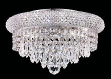 Elegant 1802F14C/RC - 1802 Primo Collection Flush Mount D14in H8in Lt:6 Chrome Finish (Royal Cut Crystals)
