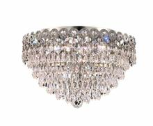 Elegant 1902F16C/RC - 1902 Century Collection Flush Mount D16in H10in Lt:4 Chrome Finish (Royal Cut Crystals)
