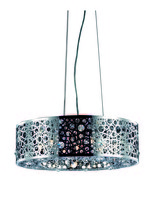 Elegant 2051D20C/RC - 2051 Soho Collection Pendant D:20in H:7.7in Lt:6 Chrome Finish (Royal Cut Crystals)