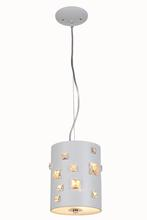Elegant 2058D7WH/RC - 2058 Candice Collection Pendant D:7in H:9in Lt:2 White Finish (Royal Cut Crystals)