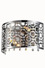 Elegant 2059W12C/RC - 2059 Sterling Collection Wall Sconce L:12in W:7in H:6in Lt:2 Chrome Finish (Royal Cut Crystals)