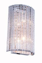 Elegant 2092W7C/RC - 2092 Influx Collection Wall Sconce D:7in H:12in E:3.5in Lt:2 Chrome Finish (Royal Cut Crystals)