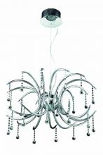 Elegant 2093D28C/RC - 2093 Hydra Collection Hanging Fixture  W28in H18.5in Lt:24 Chrome Finish  (Royal Cut Crystals)